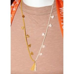 Madewell Gold, Two-toned Beaded Tassel Necklace